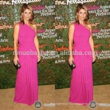 2014 Wallis Annenberg Center Gala Lori Loughlin Vestido de celebridade Vestido de noite Long-length Chifon de um ombro Long Evening Gown NB0792