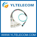 2,0 mm OM3 fibra óptica cabo Patch 4 / 8 / 12 / 24 fibra MPO