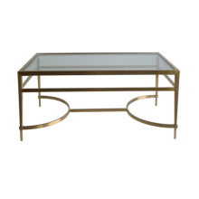 Simple style stainless steel coffee table
