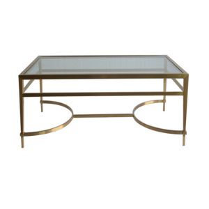 Table basse en acier inoxydable de style simple