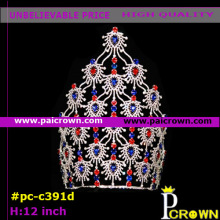 Red blue coral bridal pageants tiaras crowns