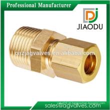 1/2 1/4 latão compressão acessórios para tubos de cobre