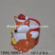 Lovely orange Fuchs geformt Keramik Blumentopf