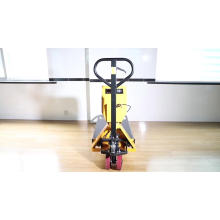 China made mobile 2t weigh scale manual pallet truck
