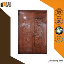 Porte chinoise avant de balançoire double d'entrée en acier pour villa