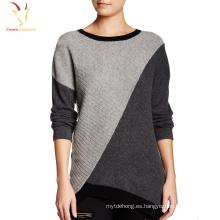 Último suéter del arco iris del punto del cachemira del diseño 100 para las mujeres