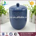 Живые классические керамические 7PCS синий набор аксессуаров для ванной комнаты