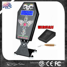 Hot sale coffin hurricane tattoo power supply with wirelss foot pedel