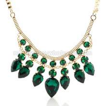 Charming Elegant Gemstone Gold Plated Brilliant Necklace