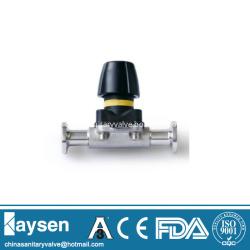 DIN Hygienic Mini manual diaphragm valves clamp end