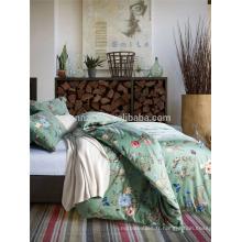 Feuille de lit en coton de luxe de haute qualité et housse de couette réversible