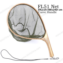 New Portable Curve Handle Fishing Nylon Landing Net