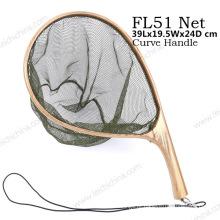 Nova curva portátil lidar com pesca Nylon Landing Net