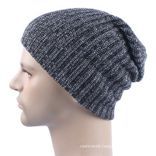 Mens Soft Stretch Slouch Winter Knitted Double Layer Warm Cap Beanie Hat (HW424)