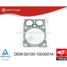 G0100-1003001A original yuchai YC4G junta da cabeça do cilindro para o caminhão Chinês