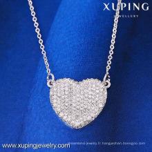41858 unique excellente conception charmant coeur Chine collier elegent en gros