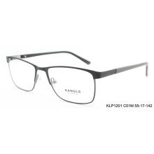 2017 пользовательские черный очки кадров оптический очки металлический каркас очки
