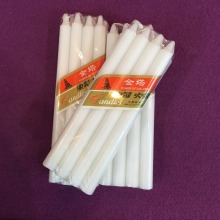 Common Paraffin Wax Decorative Thin Taper White Candles