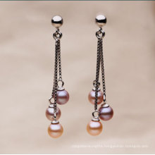Fashion Round Fresh Water Pearl Earrings