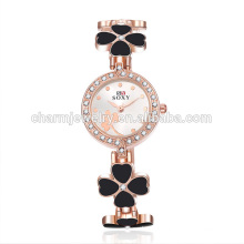 Fashion Beautiful Quartz Clover Wrist Watch For Women SOXY013