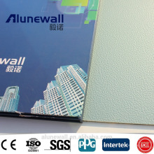 Alunewall 2 mètres de largeur ignifuge gaufré aluminium composite panneau prix usine