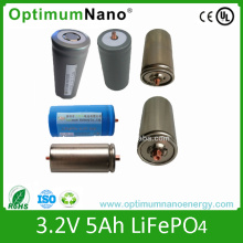 Long Life Time Cilíndrico LiFePO4 células da bateria 32650 3.2V 5ah
