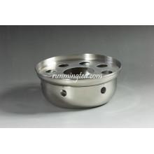 Aquecedor de chá de aço inoxidável de forma redonda