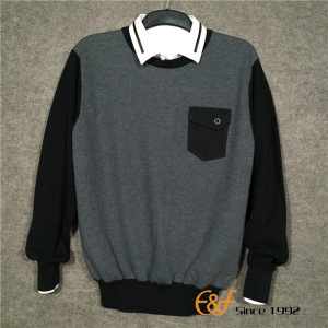 Men's Crew Neck Patch Pocket Sweater