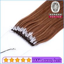 Virgin Brazilian Human Hair Natural Look Knot Thread Hair Extension Easy Pull Style Hair