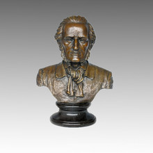 Bustos Escultura de bronce Músico Wagner Decoración Estatua de latón TPE-622