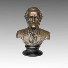 Бюсты Бронзовая скульптура Музыкант Вагнер Декор Статуя из латуни TPE-622