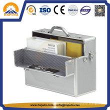 Жесткий алюминиевый корпус бизнес для хранения файлов с номером замком