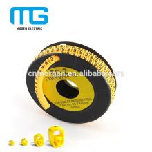 Tube plat coloré d'isolation de câble de douille de marqueur de câble avec la haute résistance, différents marqueurs standard à votre option