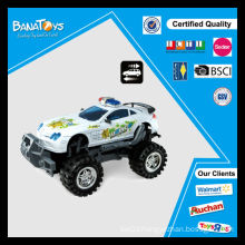 New design kid toys friction power police cross-country cars