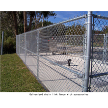 Galvanized diamond wire mesh chain link fence