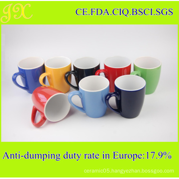 Always Best Selling Simple Style Colored Stoneware Mug Cups