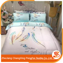 Hot sell popular design feather patterns bed sheet