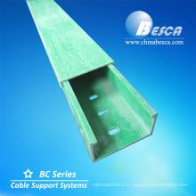 90 градусов круговой дуговой формы локтевого горизонтальный поднос кабеля frp Производство