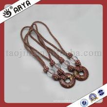 Corde décorative avec perles pour bandage de rideaux