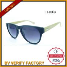 F14063 Costom Logo Bambus Sonnenbrille mit polarisierten Linse 2015