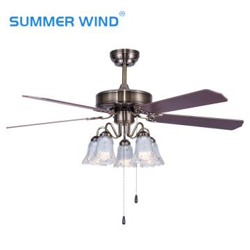 Hotel high ceiling fan with led bulbs
