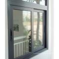 Fenêtre coulissante horizontale simple en aluminium glacé