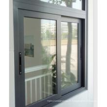 Fenêtre coulissante en aluminium de coupure thermique de verre de la basse E