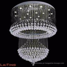 Lustre de cristal LED contemporâneo hotel lobby pingente de luz de teto 92027
