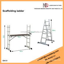 EN131 approved adjustable work platforms scaffolding ladder