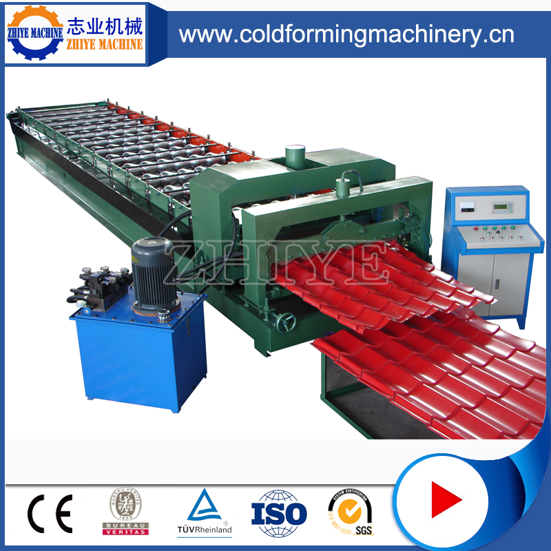 Hydraulisk Press Glazing Roof Tile Forming Machine
