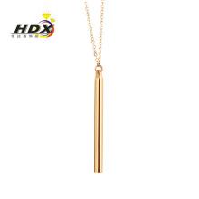 Moda jóias de aço inoxidável pingentes de ouro colares presente (hdx1129)