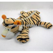 estojo de tigre de pelúcia zíper bonito para adolescentes