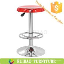 Red de acrílico moderno eslabón giratorio de taburete de bar alta silla para adultos Potty