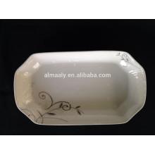 12-Zoll-Porzellan Dessertteller Rechteck Platte